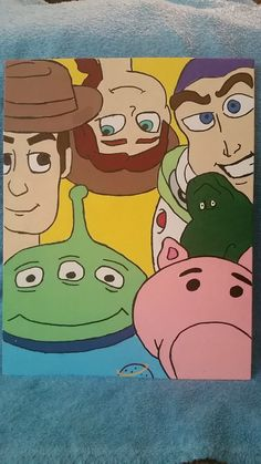 Toy Story Canvas Painting by AMCanvases on Etsy