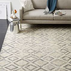 Prism Wool Rug - Soot | west elm