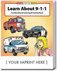 COLORING BOOK - Learn About 911 Coloring & Activity Book