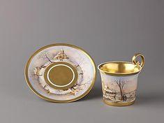 Мы уже делали подборку о чашках 18 века. Наступила очередь 19. В 19 веке чаепитие становится уже привычным времяпрепровождением. Поставки чая из Китая временно прекрающаются в 1834 г.