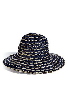 Koh Samui Loves ...  ANYA HINDMARCH Navy and Natural Straw Sun Hat