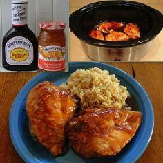 EASY CROCK POT ORANGE CHICKEN Easy Crockpot Orange Chicken Recipe, Cook Chicken In Crockpot, Peach Chicken, Healthy Orange Chicken, Orange Chicken Crock Pot, Easy Chicken Recipes, Apricot Chicken, Chicken Meals, Keto Chicken