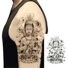Temporary Buddha Tattoo  Spiritual Way  Large Black by Tempotats