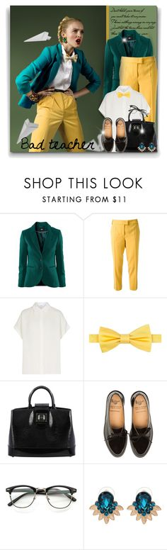 """""""Bad teacher"""" by elona-makavelli ❤ liked on Polyvore featuring Moschino Cheap & Chic, Tommy Hilfiger, Louis Vuitton and WithChic"""