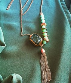 The Kelly Druzy Tassel Necklace from Susie Raine <3