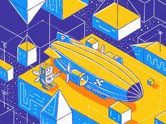 Pirate Airship by Petr Had 🐍
