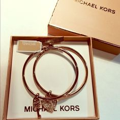 "Selling this ""AUTHENTIC Michael Kors Bangels"" in my Poshmark closet! My username is: fun2sell. #shopmycloset #poshmark #fashion #shopping #style #forsale #Michael Kors #Jewelry"