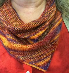 Linen Stitch Bandana Cowl By Holly G. Stone - Purchased Knitted Pattern - (ravelry)