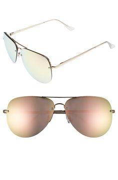 7c261d89d7  Muse  65mm Mirrored Aviator Sunglasses