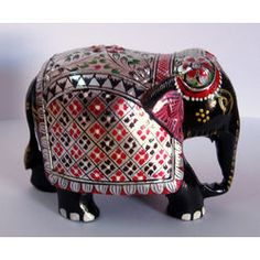 Wood Elephants Painted Online Shopping India Buy Handicrafts Gifts Home Decor Statues Fashion Jewellery
