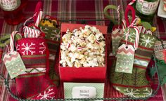 Great thank you gifts at an Ugly Sweater Christmas party!  See more party ideas at CatchMyParty.com!  #partyideas #christmas