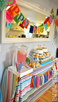 Kids Craft Birthday Party - Food table