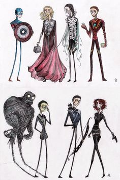 A grouping of Avengers we just need to see...(next Hallowe'en?)