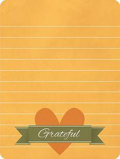 Paper Crafts & Scrapbooking November 2014 Simple Printables   grateful journalin card