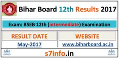 BSEB 12th Result 2017, Bihar Board 12th Result 2017 at www.biharboard.ac.in