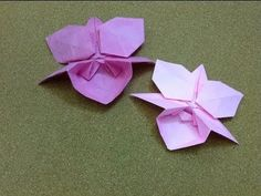 ▶ Daily Origami: 764 - Orchid - YouTube