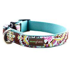 Mimi Green Stella Blue Dog Collar | Designer Dog Boutique at Glamourmutt.com $33