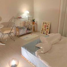 Room Design Bedroom, Room Ideas Bedroom, Small Room Bedroom, Bedroom Decor, Bedroom Inspo, Korean Bedroom Ideas, Pastel Room, Pastel Decor, Study Room Decor
