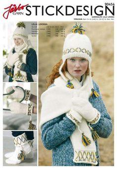90454. Öronlappsmössa, halsduk, tumvante, ridvante och socka Crochet Mittens, Knitted Hats, Knit Crochet, Crochet Hats, Drops Design, Knitting Patterns, Craft Projects, Winter Hats, Sewing