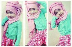 cute little girl hijabi... mashallah