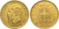 NumisBids: Numismatica Varesi s.a.s. Auction 65, Lot 658 : SAVOIA - VITTORIO EMANUELE II (1861-1878) 20 Lire 1878 Roma. MIR...