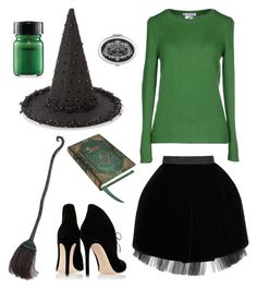 """""""Just a Bunch of Hocus Pocus."""" by marykatetus on Polyvore featuring Accessorize, Marc by Marc Jacobs, Lamberto Losani, Gianvito Rossi, Nemesis and Rubie's Costume Co."""