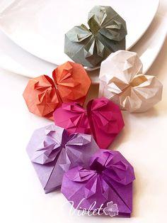 DIY paper origami heart tutorial