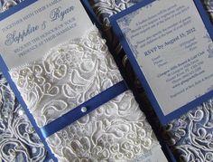 Extravagant Wedding Invitations How To Create My Dream Blue