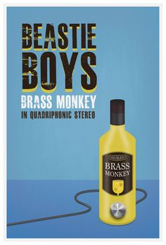 Original Print Inspired by The Beastie Boy's Brass by StudioMaxe Beastie Boys, Monkey, Songs, Inspired, The Originals, Unique Jewelry, Handmade Gifts, Happy, Poster