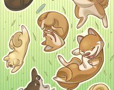 Falling Animals Bear Sticker Set by Labillustration on Etsy