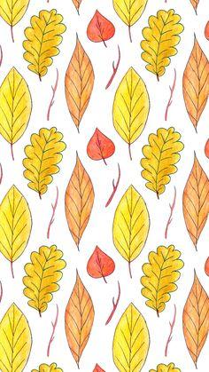 Fall Watercolour Leaves - Free Wallpaper — Life With Chnar'John