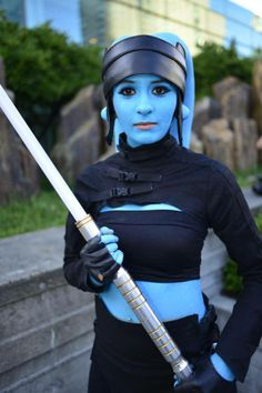 Wow. This costume is amazing. She looks kinda like mission from KOTOR as a Jedi