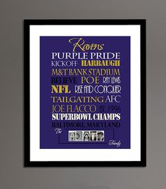 Baltimore Ravens Print by SportingStandouts on Etsy, $40.00
