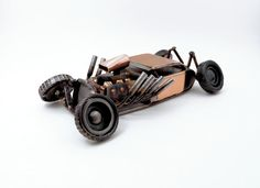Bad News Metal  Hot Rod Sculpture by BrownDogWelding on Etsy, $350.00