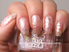 Delight In Nails: 40 Great Nail Art Ideas - Weddings - Sally Hansen Pearl Crush She Sells