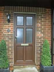 Aluminium entrance doors provide aesthetically pleasing solutions for front and back doors, patio doors and bifolding doors Aluminium Front Door, Aluminium Windows, Entrance Doors, Garage Doors, Front Doors, Timber Windows, Real Wood, Wood Grain, Shed