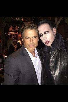 Marilyn Manson & Rob Lowe