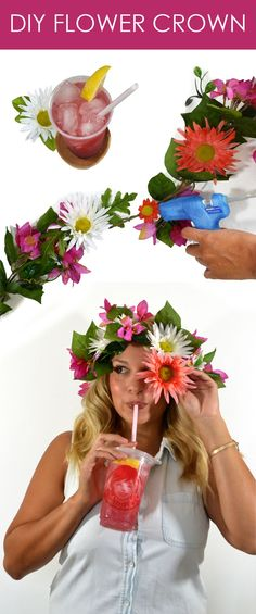 Flowers crowns and Wendy's Blackberry Lemonade are a must for all those fun…