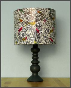Westward ho lampshade map crafts and craft 3500 via etsy produced using paper featuring beautiful birds of paradise this gorgeous shade is reminiscent of the botanical zoological illustrations gumiabroncs Image collections