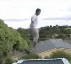 A trampoline fall with a shocking twist: | 29 GIFs That Will Make You Die Of Laughter Every Time You Watch
