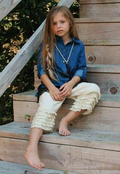 KIDS DENIM TUNIC WITH BUTTON UP SLEEVES - XS-XL