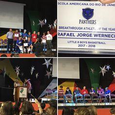 Rafael ganhou o prêmio de jogador revelação de basquete da escola