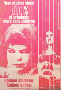 """Scarfolk Council: """"Children: The Cause of All Crime"""" Funny Memes, Hilarious, Silly Jokes, Public Information, Twisted Humor, Illustrations, Pulp Fiction, Cool Things To Make, Weird Things"""