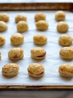 Cranberry Baked Brie Puff Pastry Bites. The perfect make-ahead holiday appetizer
