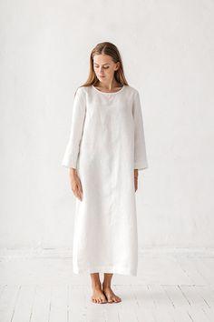 Linen dress, Long linen dress, Linen tunic, Minimal linen tunic, Stone washed, Linen clothes, Loose dress, Organic linen, Eco friendly