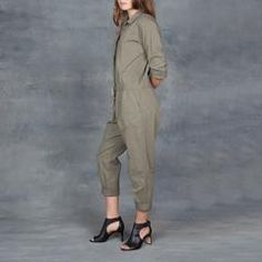Xirena Twill Falyn Flightsuit in Army