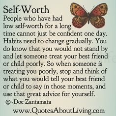 Quotes About Living - Doe Zantamata: Self-Worth - Great Advice