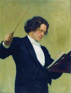Portrait of the Composer Anton Rubinstein - Ilya Repin