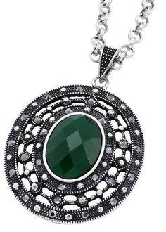 Bijou Brigitte  Chain - Green Stone