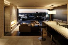 Panoramic views of the harbor from kitchen
